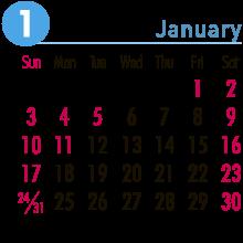 当月のカレンダー